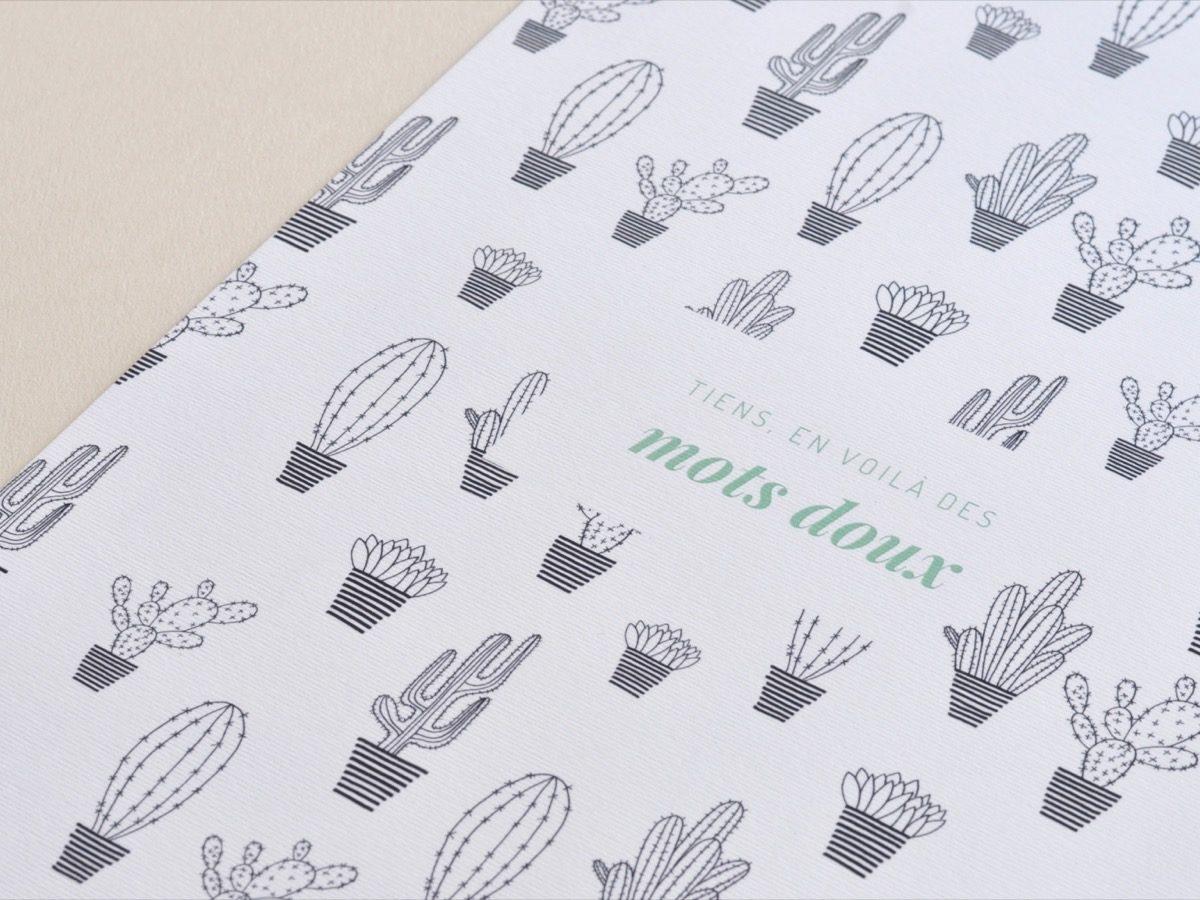 Affiche Les manies de Marion-Décoration murale-poster-détail cactus