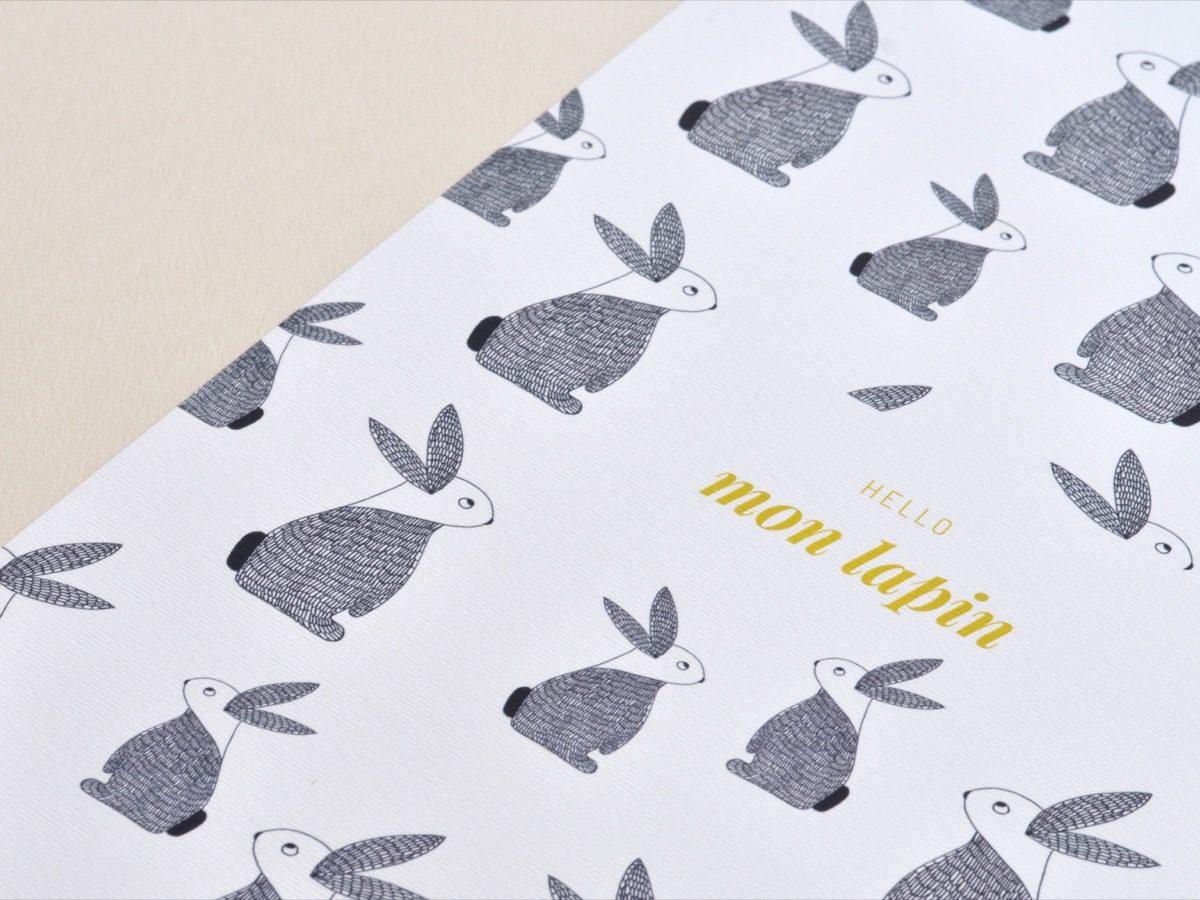 Affiche Les manies de Marion-Décoration murale-poster-détail lapin