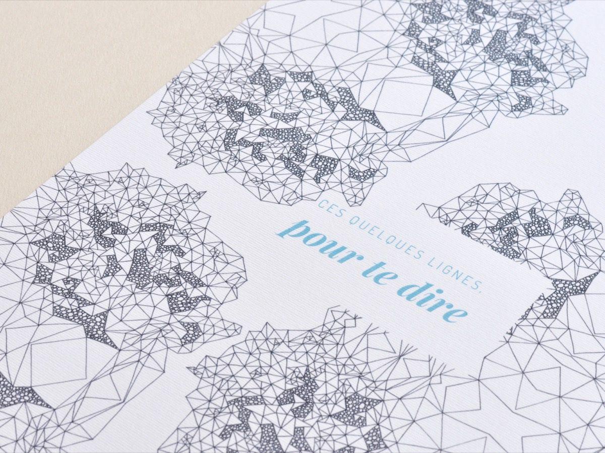 Affiche Les manies de Marion-Décoration murale-poster-détail lignes