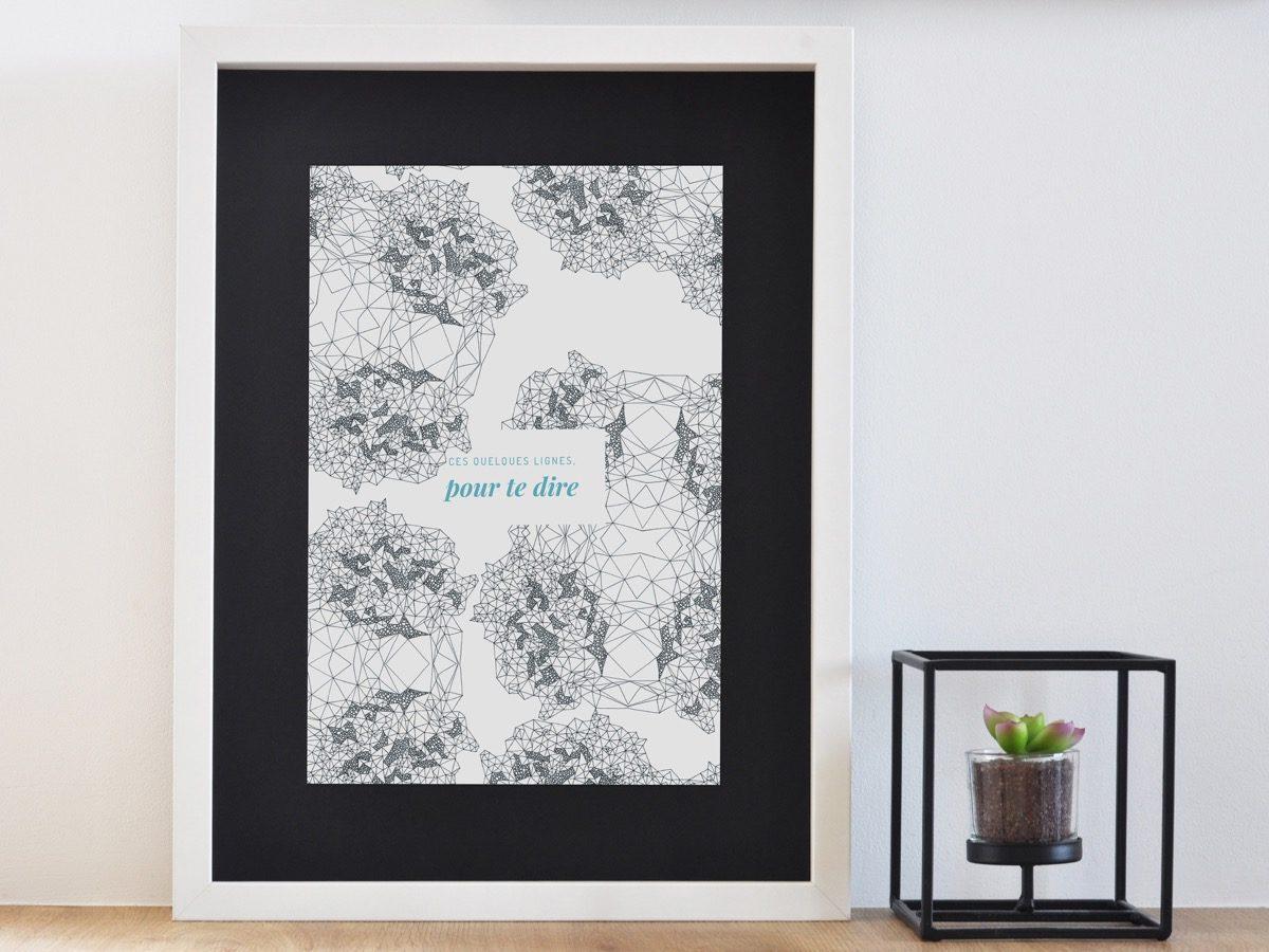 Affiche Les manies de Marion-Décoration murale-poster-encadrée lignes