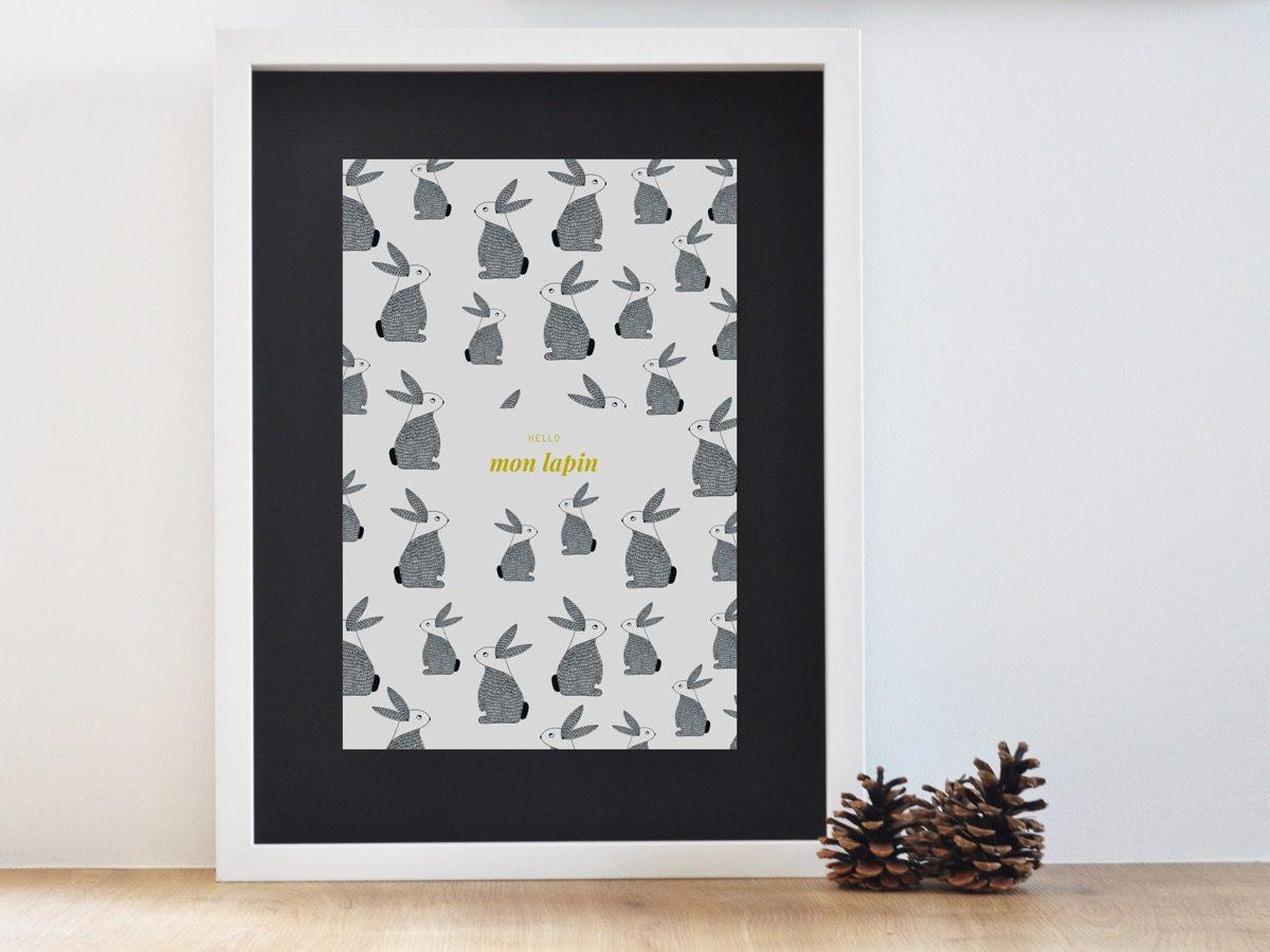 Affiche Les manies de Marion-Décoration murale-poster-encadrée lapin