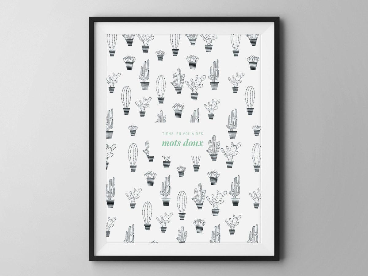 Affiche Les manies de Marion-Décoration murale-poster-modèle cactus