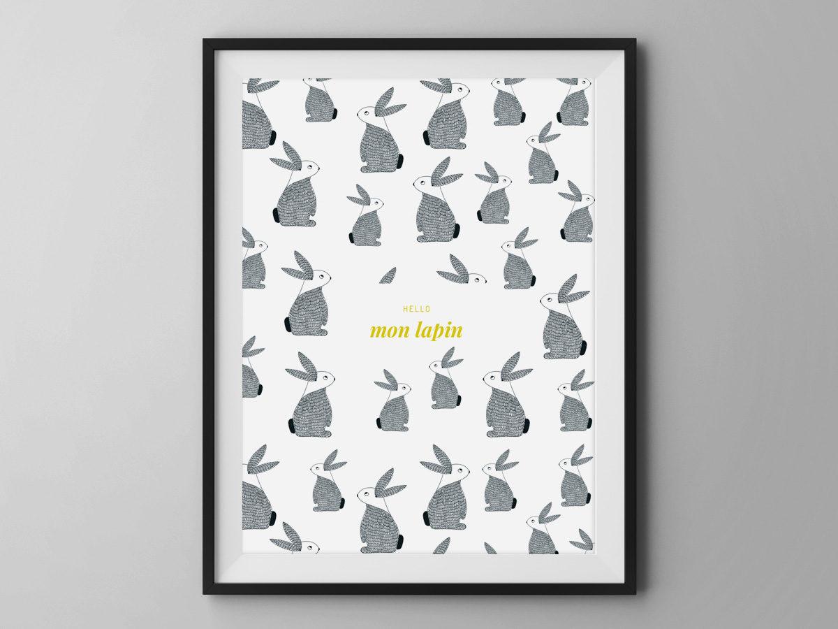 Affiche Les manies de Marion-Décoration murale-poster-modèle lapin