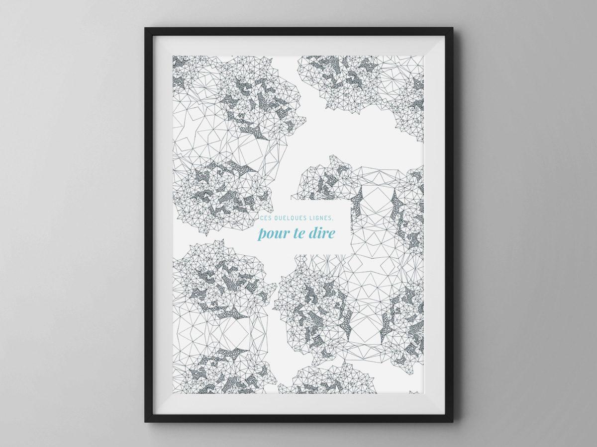 Affiche Les manies de Marion-Décoration murale-poster-modèle quelques lignes