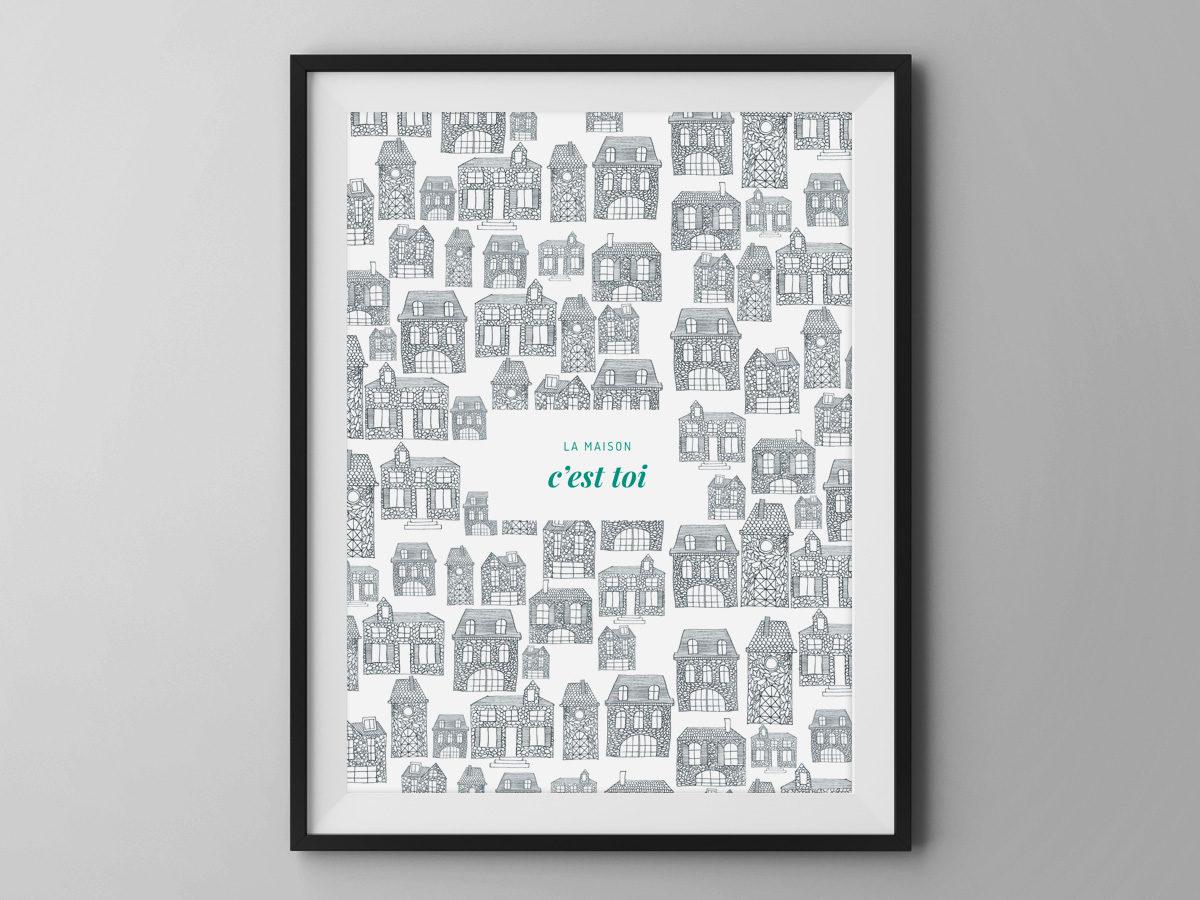 Affiche Les manies de Marion-Décoration murale-poster-modèle la maison c'est toi