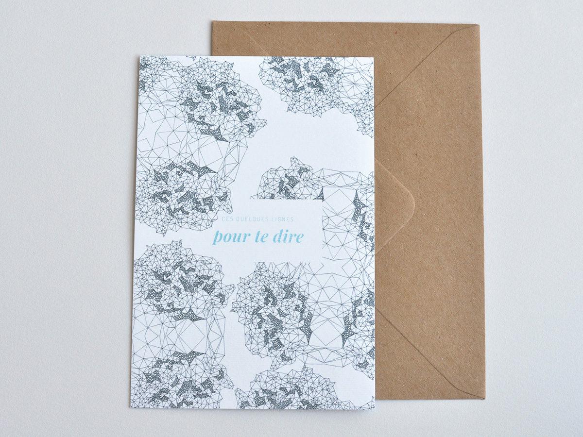 carte postale - Les manies de Marion - modèle quelques lignes