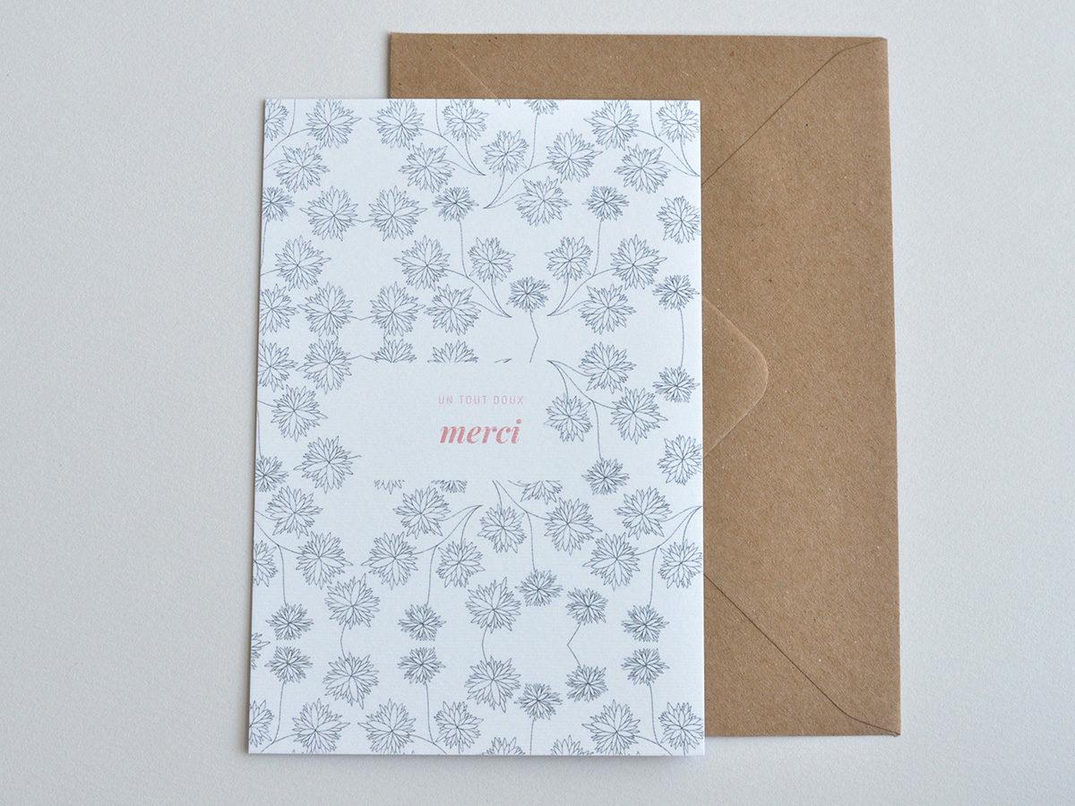 carte postale - Les manies de Marion - modèle merci