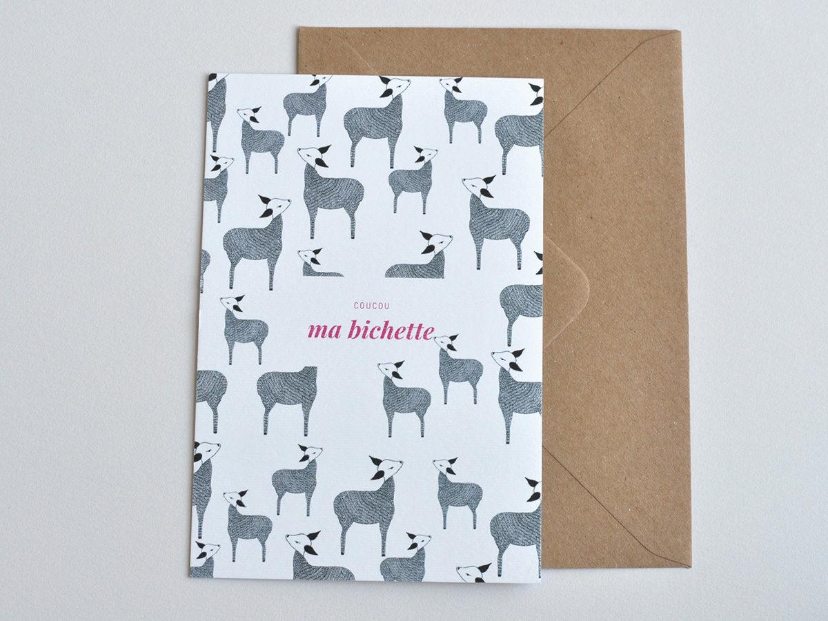carte postale - Les manies de Marion - modèle ma bichette