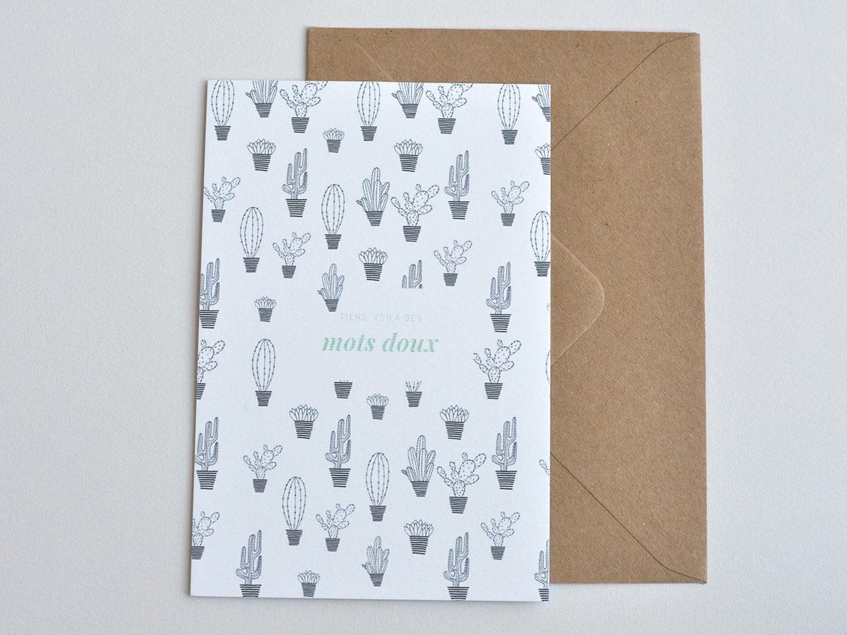 carte postale - Les manies de Marion - modèle cactus