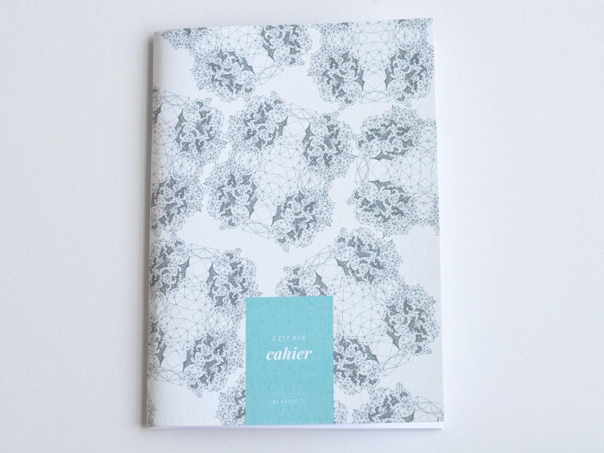 cahier carnet motifs abstrait, les manies de Marion, papeterie française haut de gamme