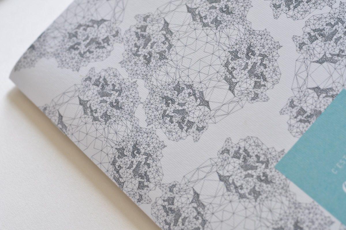 detail cahier carnet motifs abstrait, les manies de Marion, papeterie française haut de gamme