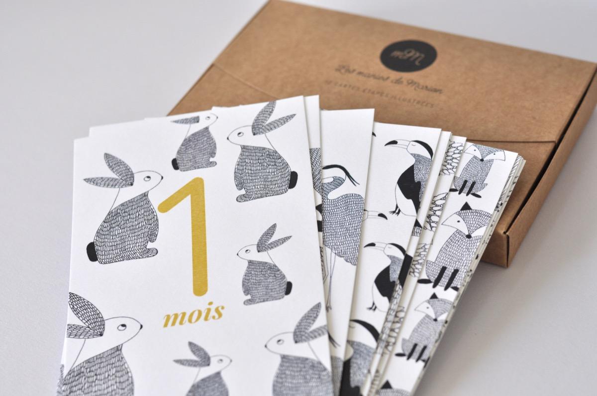 Les manies de Marion, cartes étapes boite et cartes